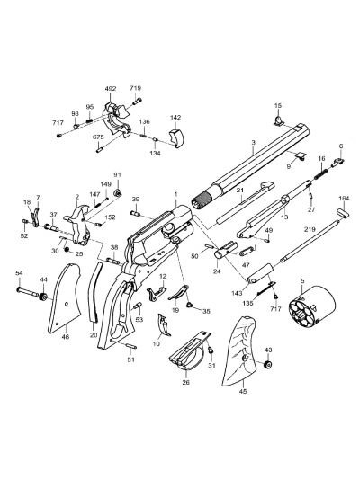 Uberti 1858 Remington Conversion Revolver Parts