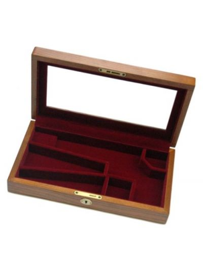 Black Powder Gun Display Case With Glass Top