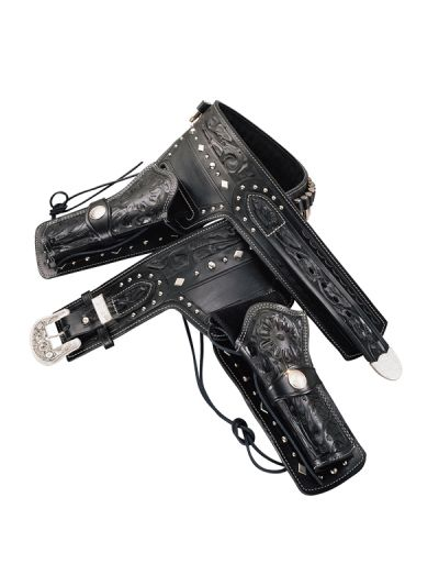 Silver King Rig - Black or Brown, Floral Hand-Tooled with Nickel Studs
